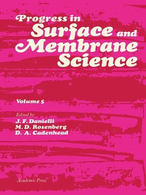 cover image of Progress in Surface and Membrane Science, Volume 5