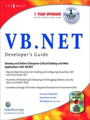 cover image of VB.Net Web Developer's Guide