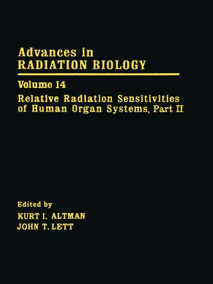 cover image of Advances in Radiation Biology V14