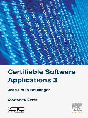 cover image of Certifiable Software Applications 3