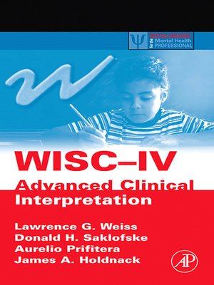 cover image of WISC-IV Advanced Clinical Interpretation