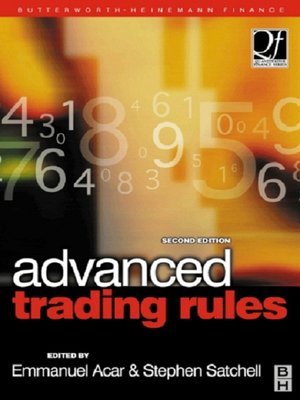 cover image of Advanced Trading Rules