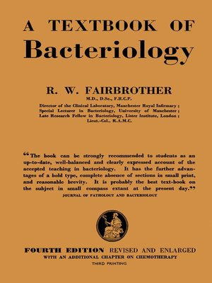 cover image of A Text--Book of Bacteriology