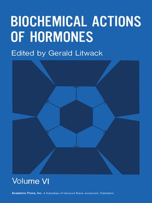 cover image of Biochemical Actions of Hormones, Volume 6