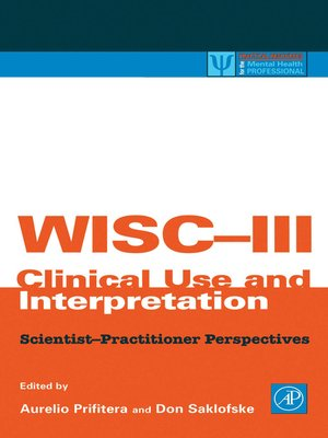 cover image of WISC-III Clinical Use and Interpretation