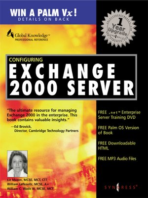 cover image of configuring exchange server 2000