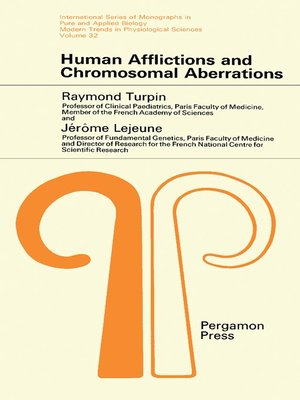 cover image of Human Afflictions and Chromosomal Aberrations