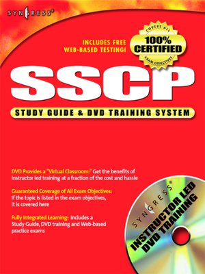 cover image of SSCP Systems Security Certified Practitioner Study Guide and DVD Training System