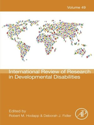 cover image of International Review of Research in Developmental Disabilities