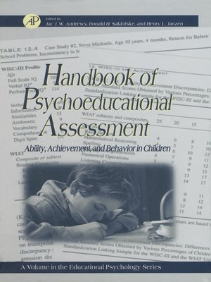 cover image of Educational Psychology: Handbook of Psychoeducational Assessment