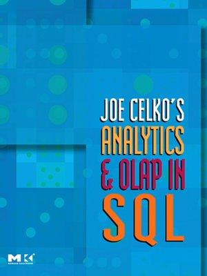cover image of Joe Celko's Analytics and OLAP in SQL