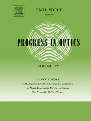cover image of Progress in Optics, Volume 52