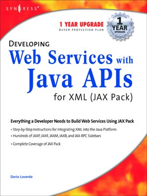 cover image of Developing Web Services with Java APIs for XML Using WSDP
