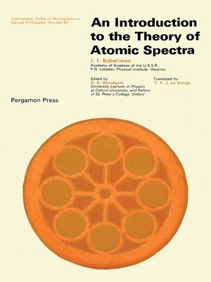 cover image of Introduction to the Theory of Atomic Spectra