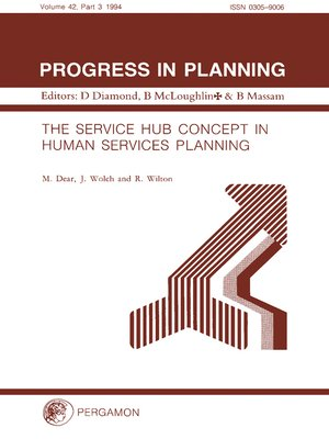 cover image of The Service Hub Concept in Human Services Planning