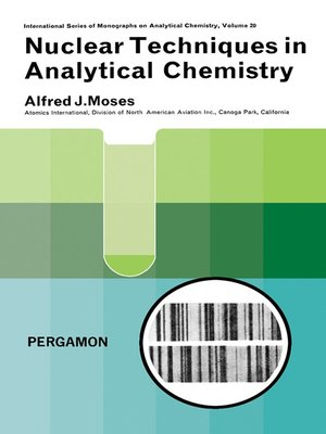 cover image of Nuclear Techniques in Analytical Chemistry