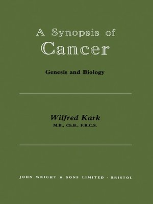 cover image of A Synopsis of Cancer