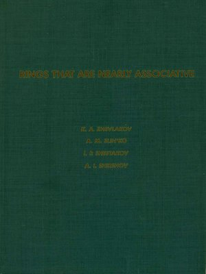 Pure and Applied Mathematics, Volume 104 by K A  Zhevlakov