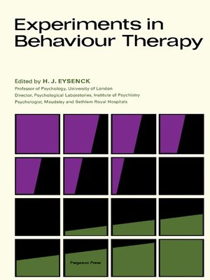 cover image of Experiments in Behaviour Therapy