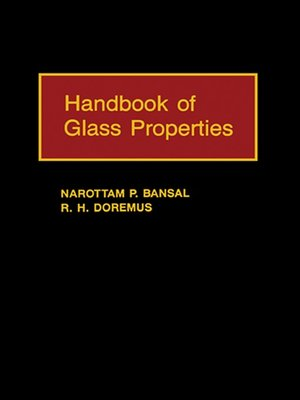 cover image of Handbook of Glass Properties