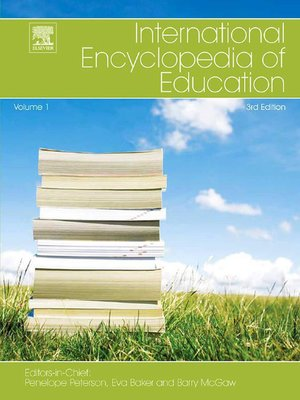 cover image of International Encyclopedia of Education