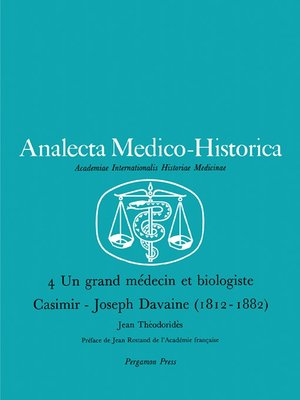 cover image of Un Grand Médecin et Biologiste Casimir-Joseph Davaine (1812—1882)
