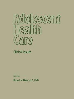 cover image of Adolescent Health Care