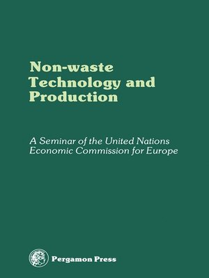 cover image of Non-Waste Technology and Production