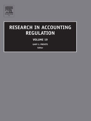 cover image of Research in Accounting Regulation, Volume 19
