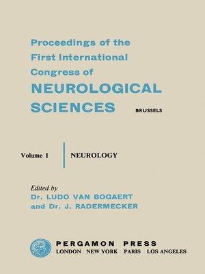 cover image of Sixth International Congress of Neurology