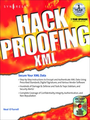 cover image of Hack Proofing XML