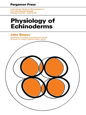 cover image of Physiology of Echinoderms