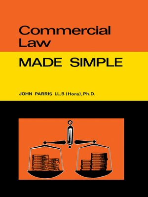cover image of Commercial Law