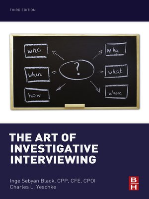 cover image of The Art of Investigative Interviewing