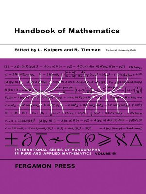 cover image of Handbook of Mathematics