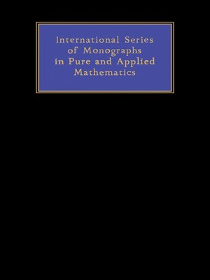 cover image of International Series in Pure and Applied Mathematics, Volume 34