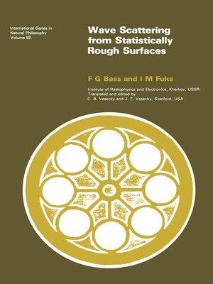 cover image of Wave Scattering from Statistically Rough Surfaces
