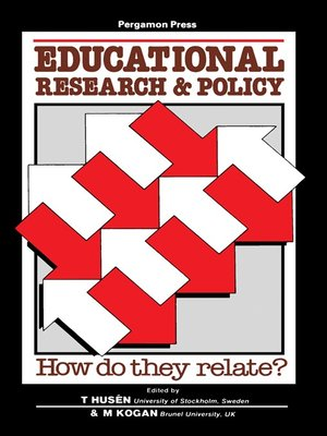 cover image of Educational Research and Policy