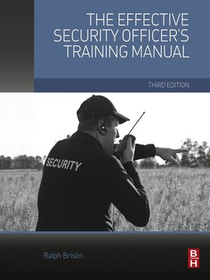 cover image of The Effective Security Officer's Training Manual