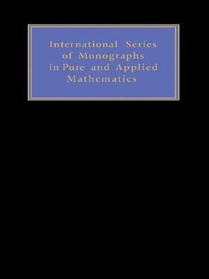cover image of International Series in Pure and Applied Mathematics, Volume 37