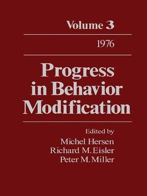 cover image of Progress in Behavior Modification, Volume 3