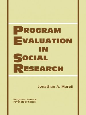 cover image of Program Evaluation in Social Research