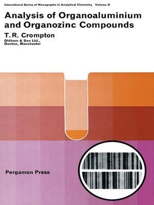cover image of Analysis of Organoaluminium and Organozinc Compounds