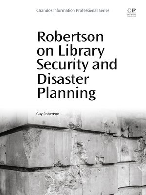 cover image of Robertson on Library Security and Disaster Planning