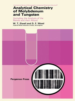 cover image of Analytical Chemistry of Molybdenum and Tungsten