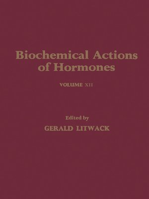 cover image of Biochemical Actions of Hormones, Volume 12