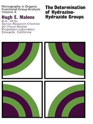 cover image of The Determination of Hydrazino-Hydrazide Groups