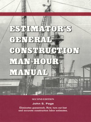cover image of Estimator's General Construction Manhour Manual