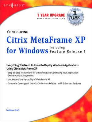 cover image of Configuring Citrix MetaFrame XP for Windows