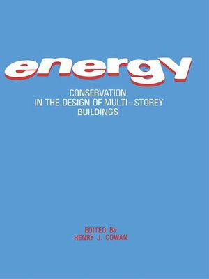 cover image of Energy Conservation in the Design of Multi-Storey Buildings